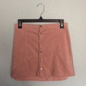Pink button up skirt, Worn Once